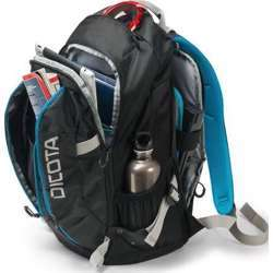Dicota Backpack Active 14-15.6 Laptop Bag With Sporty Outdoor Design Black/Blue