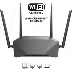 D-Link Ac1750 Mu-Mimo Wi-Fi Speeds Up To 450Mbps (2.4Ghz) + 1300Mbps (5Ghz) Gigabit Router