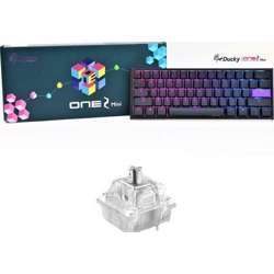 Ducky One 2 Mini Speed Silver Cherry Switch Seamless Double Shot Rgb Led Gaming Keyboard - Black