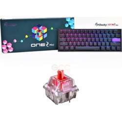 Ducky One 2 Mini Red Cherry Switch Seamless Double Shot Rgb Led Gaming Keyboard, Type-C Connector