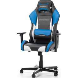 DXRacer Drifting Series Newedge Edition Racing Bucket Seat, Esports Gaming Chair With Pillows - Black/White/Blue