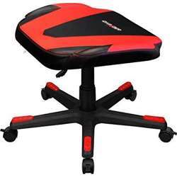 DXRacer Racing Adjustable Storage Ottoman Footstool Chair Gaming Furniture (Black And Red)