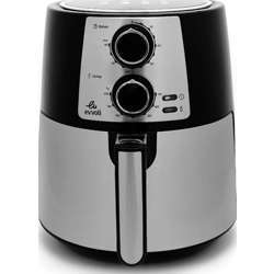 Evvoli Air Fryer 3.5L 1400W Timer And Adjustable Temperature Control, 2 Years Warranty - Black/Silver