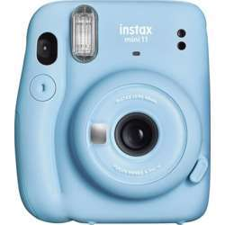 Fujifilm Instax Mini 11 Instant Film Camera, 60Mm Lens With Selfie Mirror, Automatic Exposure And Automatic Flash, Dedicated Selfie/Close-Up Shooting Mode - Sky Blue