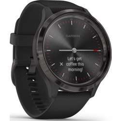 Garmin Vivomove 3 Slate Stainless Steel With Black Case And Silicone Band Smartwatch - Black