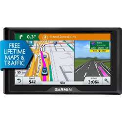 Garmin Drive 60 Usa Lm Gps Navigator System With Lifetime Maps, Spoken Turn-By-Turn Directions, Direct Access, Driver Alerts, And Foursquare Data Drive