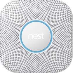 Google Nest Protect S3003Lwes Wired Smoke And Carbon Monoxide Alarm, 2Nd Generation - White