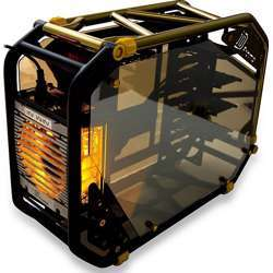 Inwin D-Frame 2.0 Bk Gold/Black Motorcycle Steel Tube Atx Full Tower Case Includes Sii-1065W Power Supply Cases D-Frame 2.0