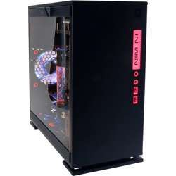 In Win 301 Black Secc Atx Mid Tower Gaming Computer Case With Tempered Glass