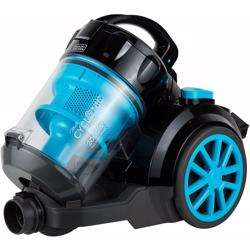 Black+Decker 1800W Bagless Cyclonic Canister Vacuum Cleaner with 6 Stage Filtration, Multi Color - VM2080-B5