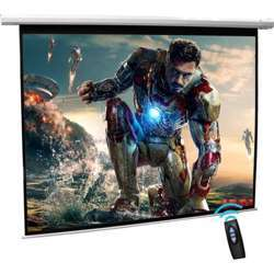 """I-View Electrical Projector Screen with Remote Control 215x135cms (100"""" Diagonal) 16:10 Format"""