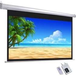 """I-View Electrical Projector Screen with Remote 240×180 120"""" Diagonal"""