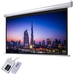 """I-View Electrical Projector Screen with Remote Control 258x161cms (120"""" Diagonal) 16:10 Format"""