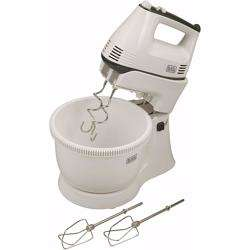 Black+Decker 300w 5 Speed Multifunction Bowl And Stand Mixer, White - M700