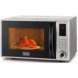 Black+Decker 700W 23 Liter Combination Microwave Oven with Grill, Silver - MZ2310PG-B5