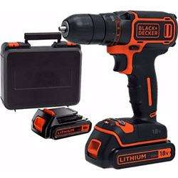 Black+Decker 18V With 400Ma Charger In A Kitbox Drill Driver