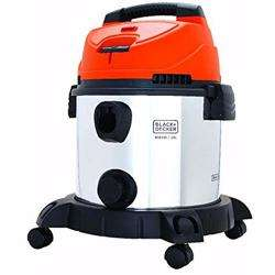 Black+Decker 1600W 20L Wet and Dry Stainless Steel Tank Drum Vacuum Cleaner, Multicolour - WDBDS20-B5