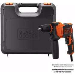 Black+Decker Corded Drill 710W with Kitbox, BEH710K-GB