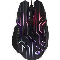 Meetion Dazzling Gaming Mouse, 200-4800 Dpi, 1000 Hz, Max Acceleration 15G, Multi-Function Side Button