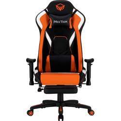 Meetion Leather, Adjustable Handrail, Scalable Footrest Gaming Chair Comfortable Reclining Gaming Chair