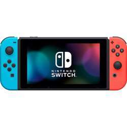 Nintendo Switch Extended Battery Life with Neon Blue and Neon Red - Japanese