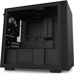 NZXT H210 Mini-Itx Pc Gaming Case Front I/O Usb Type-C Port Tempered Glass Side Panel Cable Management System Water-Cooling Ready Radiator Bracket Steel Construction - Matte Black
