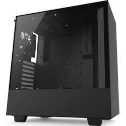 NZXT H500 Atx Mid Tower - Tempered Glass Window - Compact Pc Gaming Case - Matte Black
