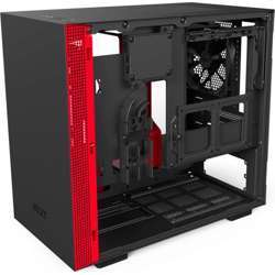 NZXT H200I Mini-Itx Computer Case Secc Steel And Tempered Glass (Matte Black / Red)