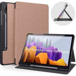 Quicktech Samsung Galaxy Tab S7 Protective Case With Pencil Holder - Rose Gold