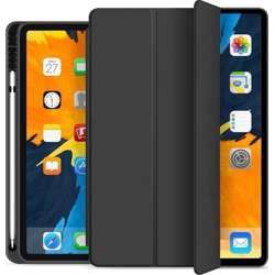 Quicktech Ipad Pro 12.9 2020 4Th Generation Protective Case With Pencil Holder - Black