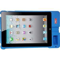 """Vibe Slick Base Tablet Workstation, Rugged Case, Sound Booster, For Typing, Compatible With Ipad 9.7"""" Tablets - Non-Slip High-Quality Durable Silicone Rubber Case - Blue"""