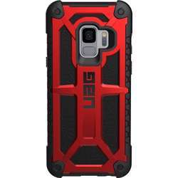 UAG Monarch Series Hard Back Cover Case Compatible for Samsung Galaxy S9 - Crimson Red