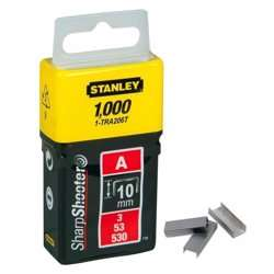 Stanley 1-TRA206T 10mm A-Type Light Duty Staples (1000 Pieces)