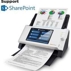 """Plustek eScan SharePoint A250, Network Scanner Dedicated for Microsoft SharePoint and Office 365, Standalone (PC-Less), 7"""" Color Touchscreen, 50-Sheet Automatic Document Feeder A250"""