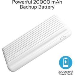 Promate 20000Mah High-Capacity Power Bank With 3.1A Dual Usb Output, Universal Usb Charging