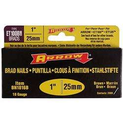 "Arrow Bn1816B Brad Nails 1"" - Brown"